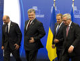 Porošenko, Tusk, Juncker