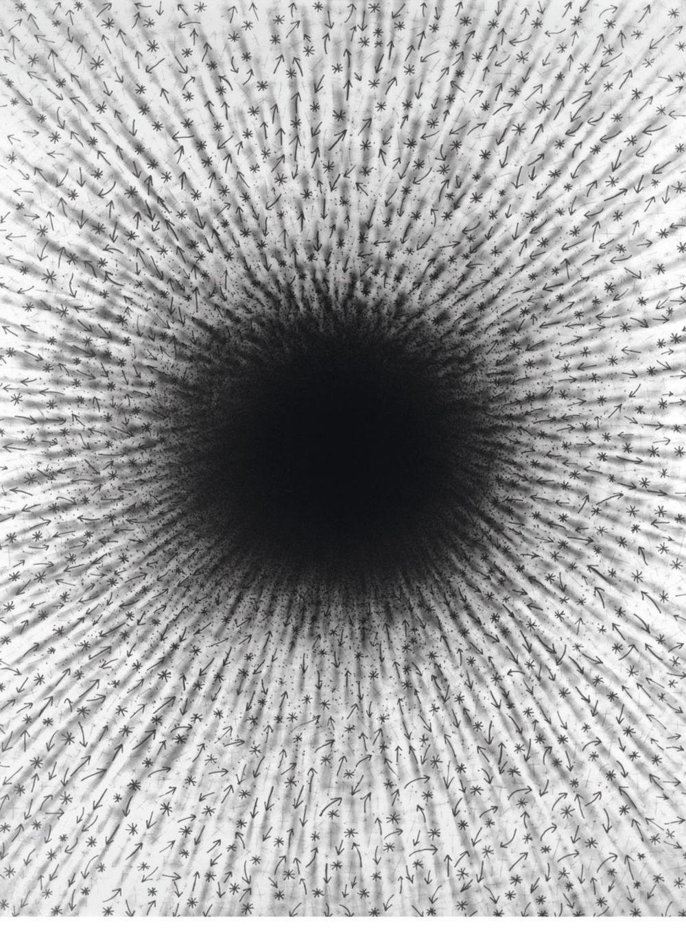 Z cyklu Sústredenie energie (Biela diera VII., 1979).
