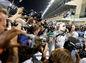 Nico Rosberg a Lewis Hamilton po posledných, rozhodujúcich pretekoch sezóny.