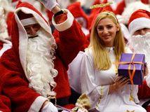 Santa Claus, Vianoce, anjel, darček