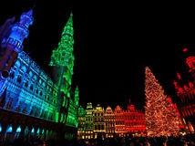 Brusel, Vianoce, osvetlenie, advent, vianočné trhy