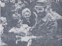 Danka Ružinská, fidel castro, autogram,
