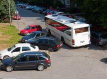 doprava, autobus, autá, parkovanie