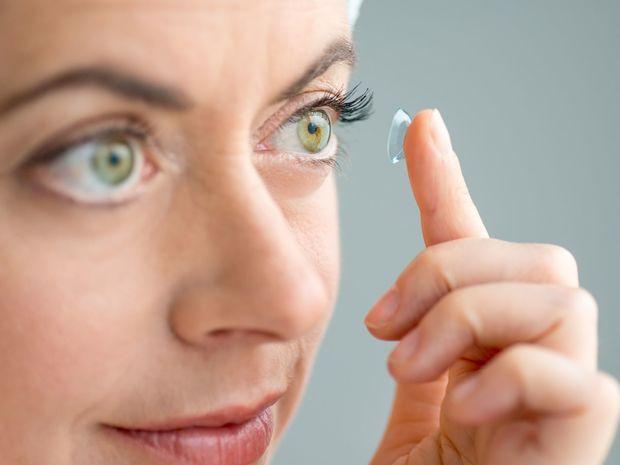 žena, oči, šošovky