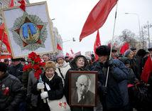 Moskva, Rusi, výročie boľševickej revolúcie