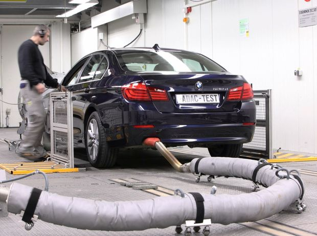 ADAC - emisný test