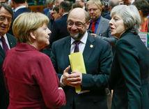 EÚ, summit, merkelová, mayová, schulz