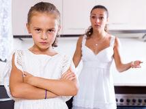 hádka, mama, dcéra, rodič