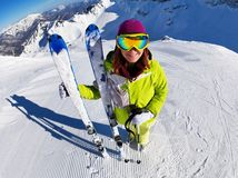 lyžovanie, lyže, zima, sneh, lyžiarka,