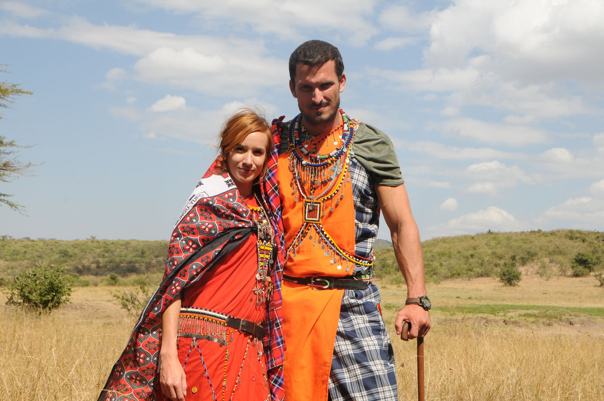 Táňa Pauhofová s kolegom Jánom Koleníkom v seriáli ZOO.