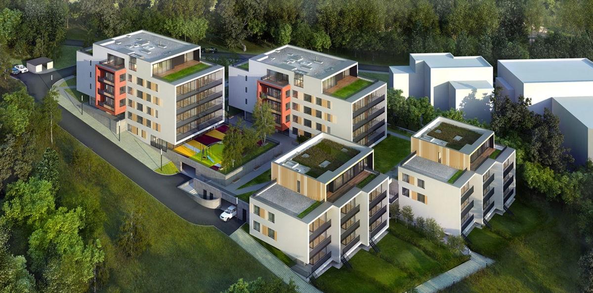 Bytový komplex Villinki - vizualizácia