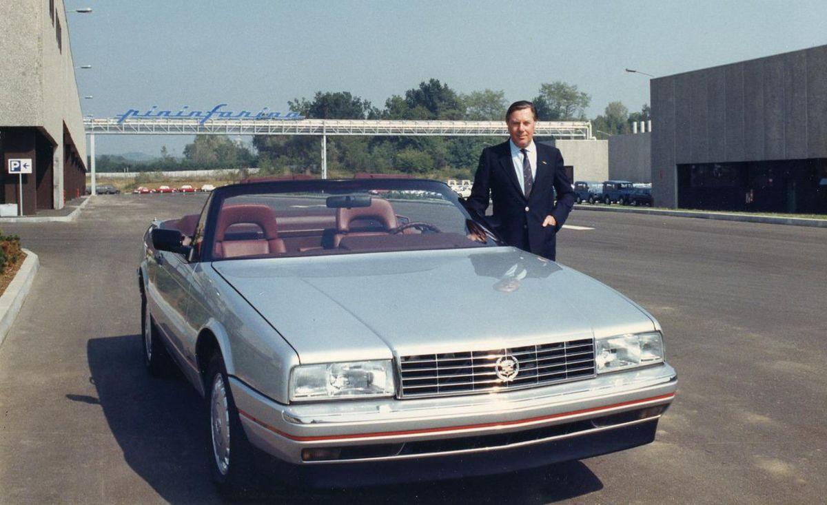 Za dizajnom Allanté stálo talianske štúdio Pininfarina. To zabezpečilo aj produkciu karosérií. (Na snímke Sergio Pininfarina)