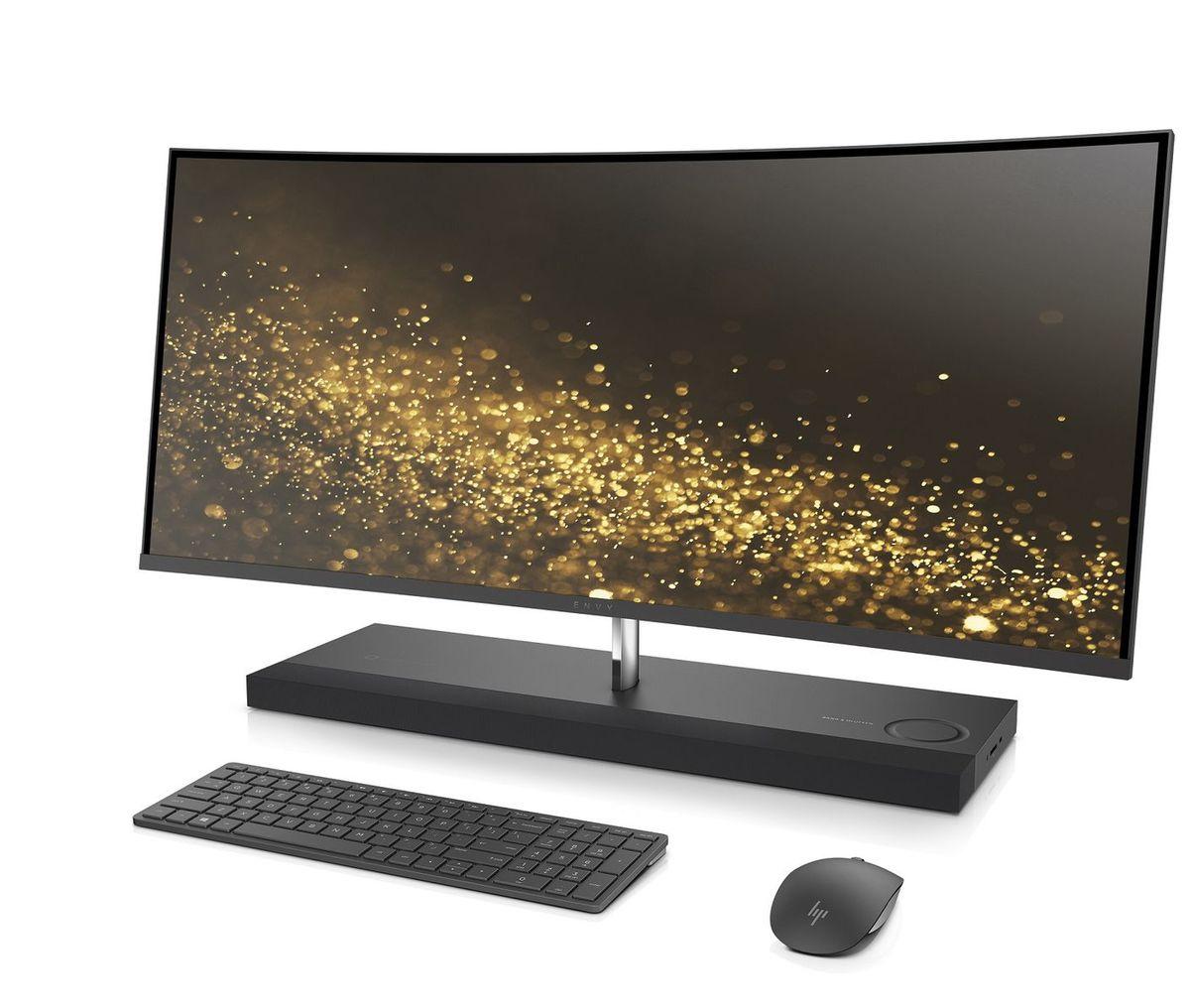 Počítač HP Envy Curved má 34-palcový displej s tenkým rámom a zakriveným panelom.