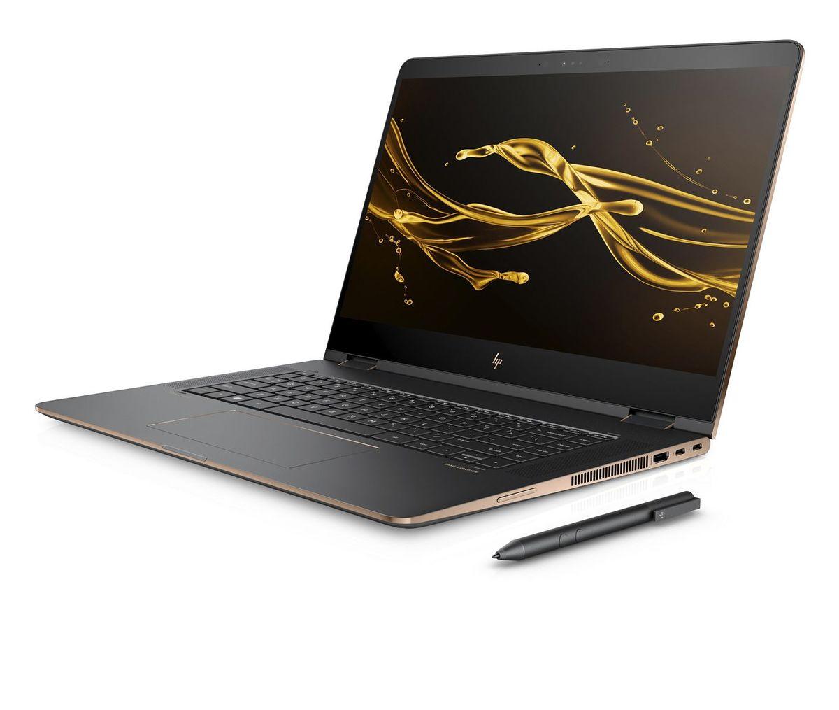 Notebook HP Spectre x360 má grafickú kartu s vlastnou pamäťou a 15,6-palcový dotykový displej.