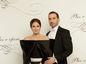 Podnikateľ Tomáš Stern a jeho manželka Diana. V kreácii od Marcela Holubca.