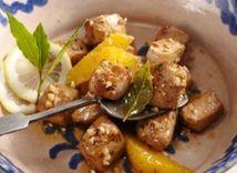 cesnak, bravčové mäso