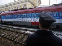 Kosovo, srbsko, vlak,