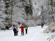 Slovenský raj, Hornád, zima, sneh, mráz, lyžovanie, bežky,