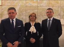 Robert Fico, Denisa Saková, Peter Pellegrini