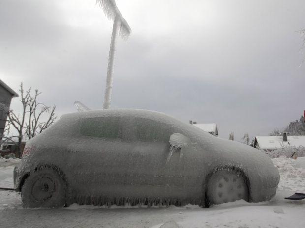 Zamrznuté autá