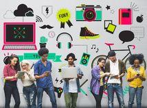 mládež, mladí ľudia, komunikácia, technológie, generácia Z,