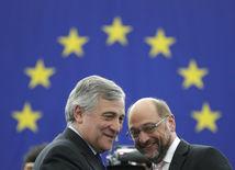 Antonio Tajani, Martin Schulz