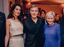 Záber z Instagramu s manželmi Clooneyovcami - nepoužívať sólo
