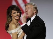 Donald Trump a jeho manželka Melania Trump