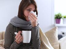 chrípka, choroba, žena,