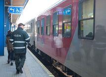 vlak do rakúska, stanica, doprava, polícia,