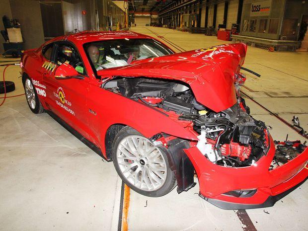 Ford Mustang nedosiahol na viac ako dve hviezdičky. A nielen pre absenciu požadovaných elektronických asistenčných systémov, za ktoré dostal len 16 %.