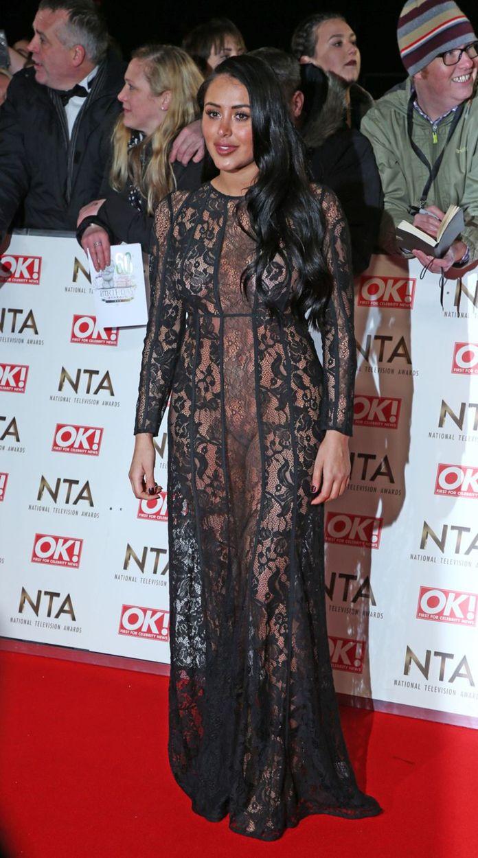 Televízna hviezdička Marnie Simpson na vyhlásení cien National Television Awards v Londýne.