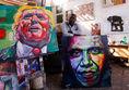 Trump, Obama, Evans Yegon, maľba, obraz, maliar, výstava