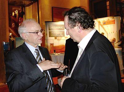Slávny vinár Helmut Dönnhoff a Dušan Pleško (vpravo).