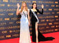 Súťažiace Miss Universe na stretnutí s médiami - Mariam Habach z Venezuely (vľavo) a Dang Thi Le Hang z Vietnamu.