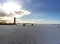 Neziderské jazero, Rakúsko, jazero, obloha, sneh, mráz, zima