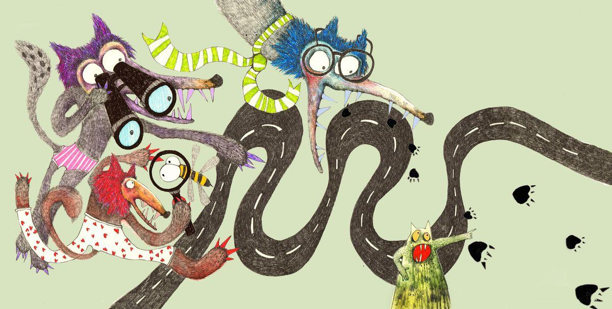 Ilustrácia Ley Točekovej z knihy Vlk a tma.