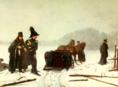 Alexej Naumov: Súboj Puškina s d'Anthèsom, obraz, maľba