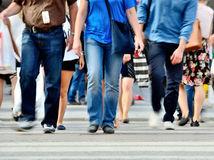 ľudia, mesto, chôdza, dav