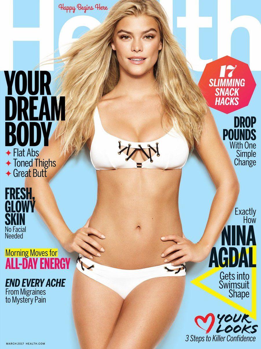 Dánska modelka Nina Agdal na zábere z titulnej strany Health.