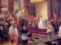 korunovácia, František Jozef I., Rakúsko-Uhorsko, Uhorsko, kráľ, poddaný, ilustrácia,