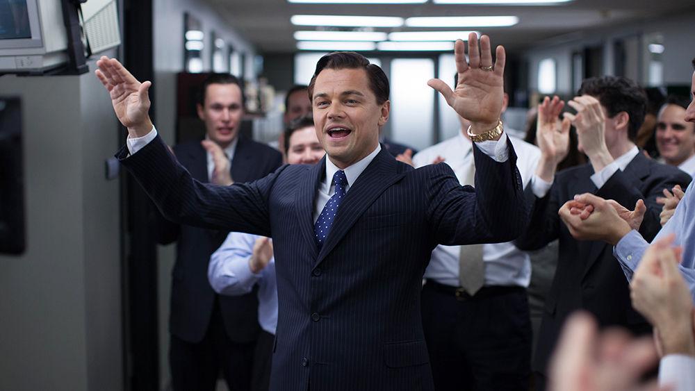 Leonardo DiCaprio vo filme Vlk z Wall Street (2013) .
