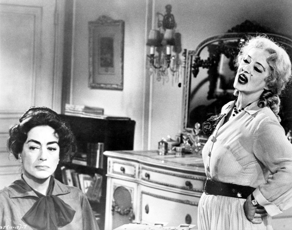 Joan Crawford a Bette Davis vo filme Čo sa vlastne stalo s Baby Jane? (1962).