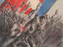 Peter Gall, plagát, ľudová strana, 1938