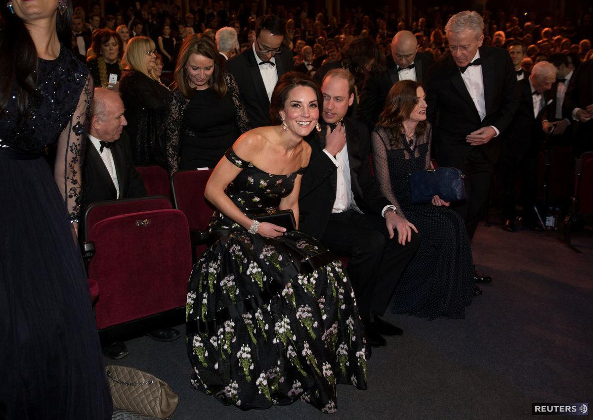 Princ William a vojvodkyňa Kate počas udeľovania cien BAFTA.