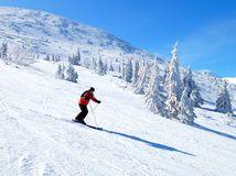 lyžovanie, lyžovačka, lyžiar, lyže, sneh, zima, svah,
