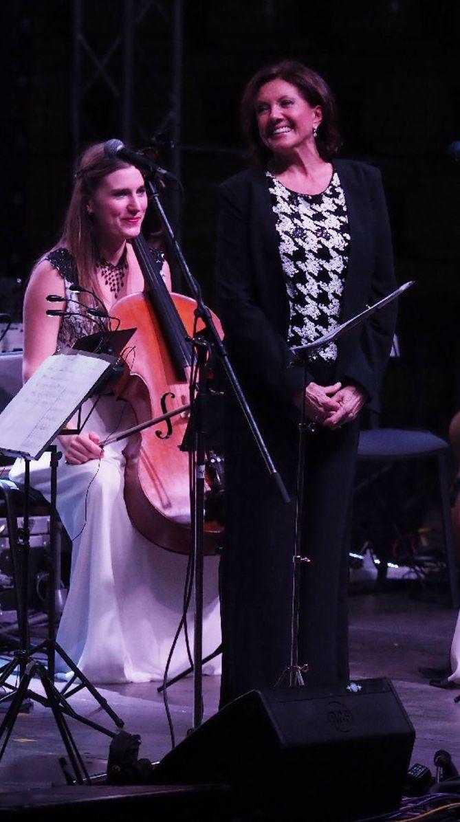 Marie Rottrová počas vystúpenia v Bratislave vo februári.