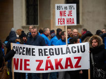 PROTEST: Proti zakázu hazardu v Bratislave