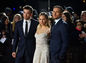 Zľava: Herci Robert Pattinson, Sienna Miller a Charlie Hunnam predstavili v Londýne novinku The Lost City of Z.