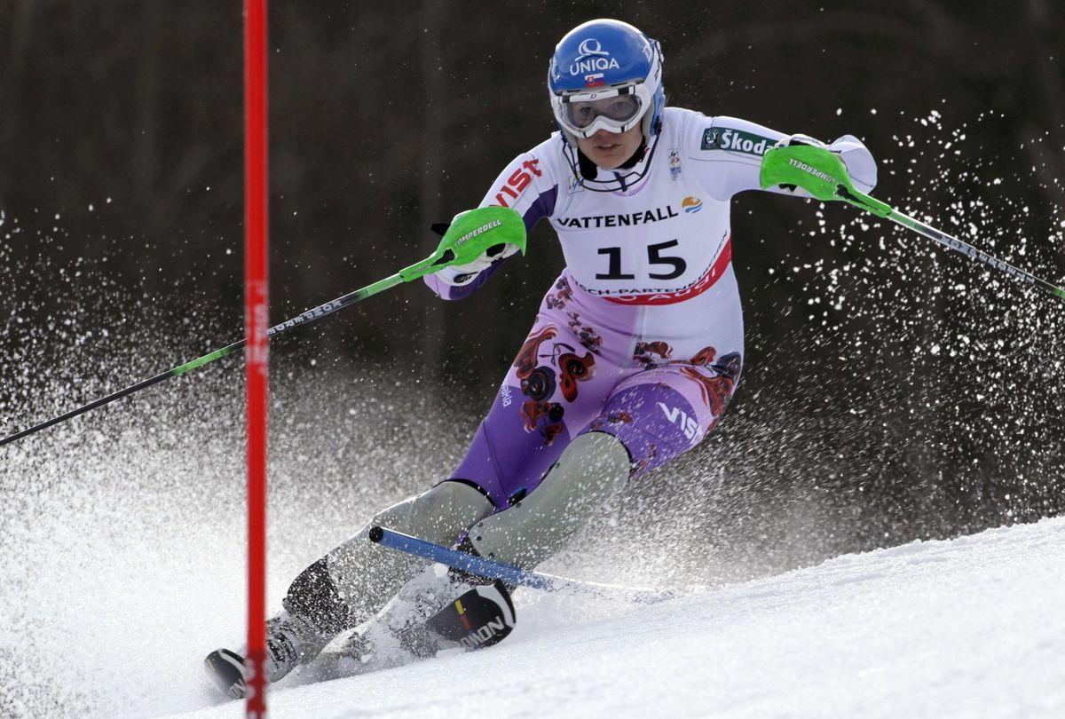 Veronika Velez-Zuzulová na MS 2011 v Garmisch-Partenkirchene.